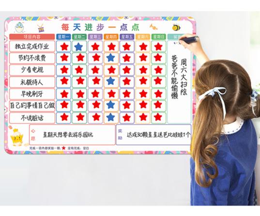 优力优自律墙贴儿童成长自律表