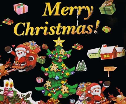 圣诞节装饰品橱窗玻璃贴纸